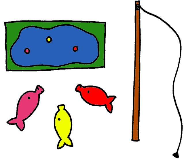 Fish withers. Fishing games lessons in