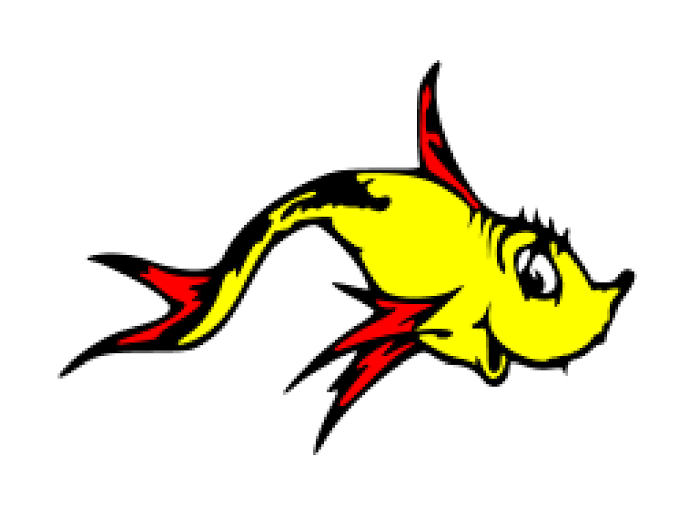 Fish withers. Displaying one two svg
