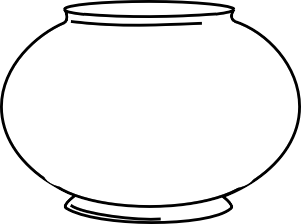 Blank clip art at. Fishbowl clipart picture free