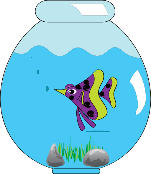 In clip art fish. Fishbowl clipart image download