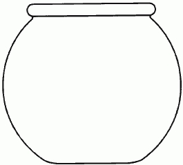 Fish bowl black and. Fishbowl clipart picture royalty free library