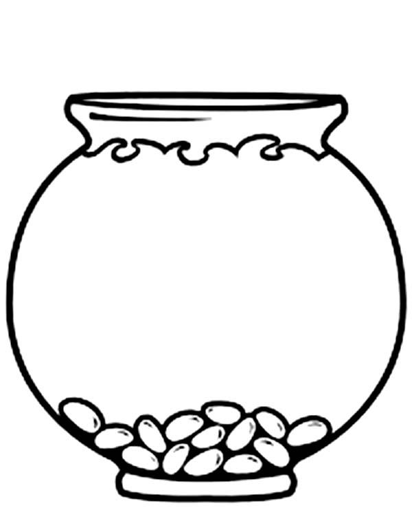 Empty bowl coloring page. Fishbowl clipart pet fish png freeuse