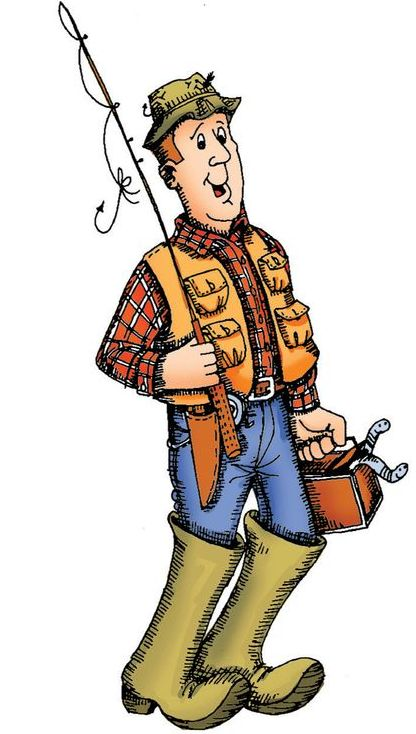 Fisherman clipart caricature. Best images on