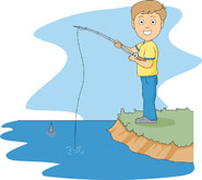 Fisherman clipart sad. Little boy fishing silhouette