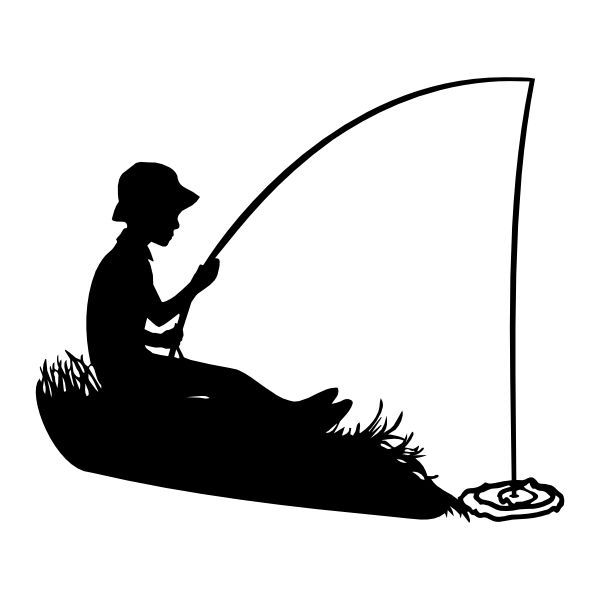 Fisherman clipart silhouette. Best cakes fish