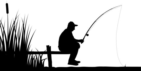 Fisherman clipart silhouette. Find the inner joy