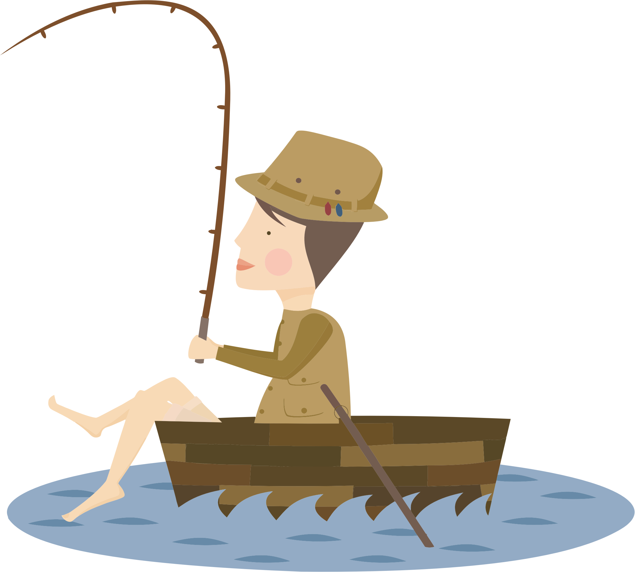 Fisherman svg cartoon. Icons png free and