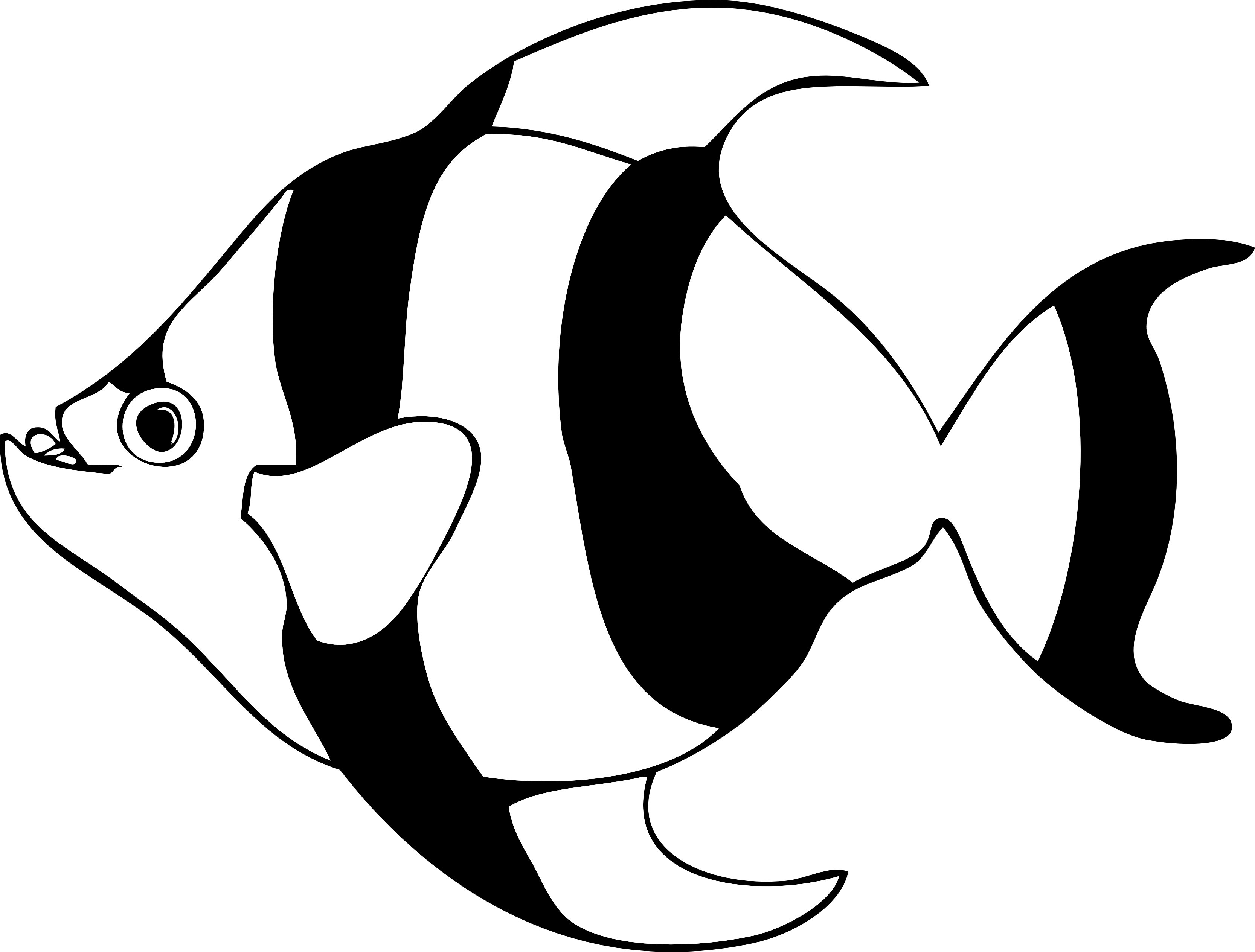 Fishing clip black and white. Tropical fish art clipart