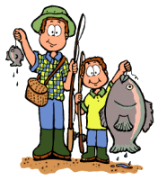 Fishing clip dad. Clipart