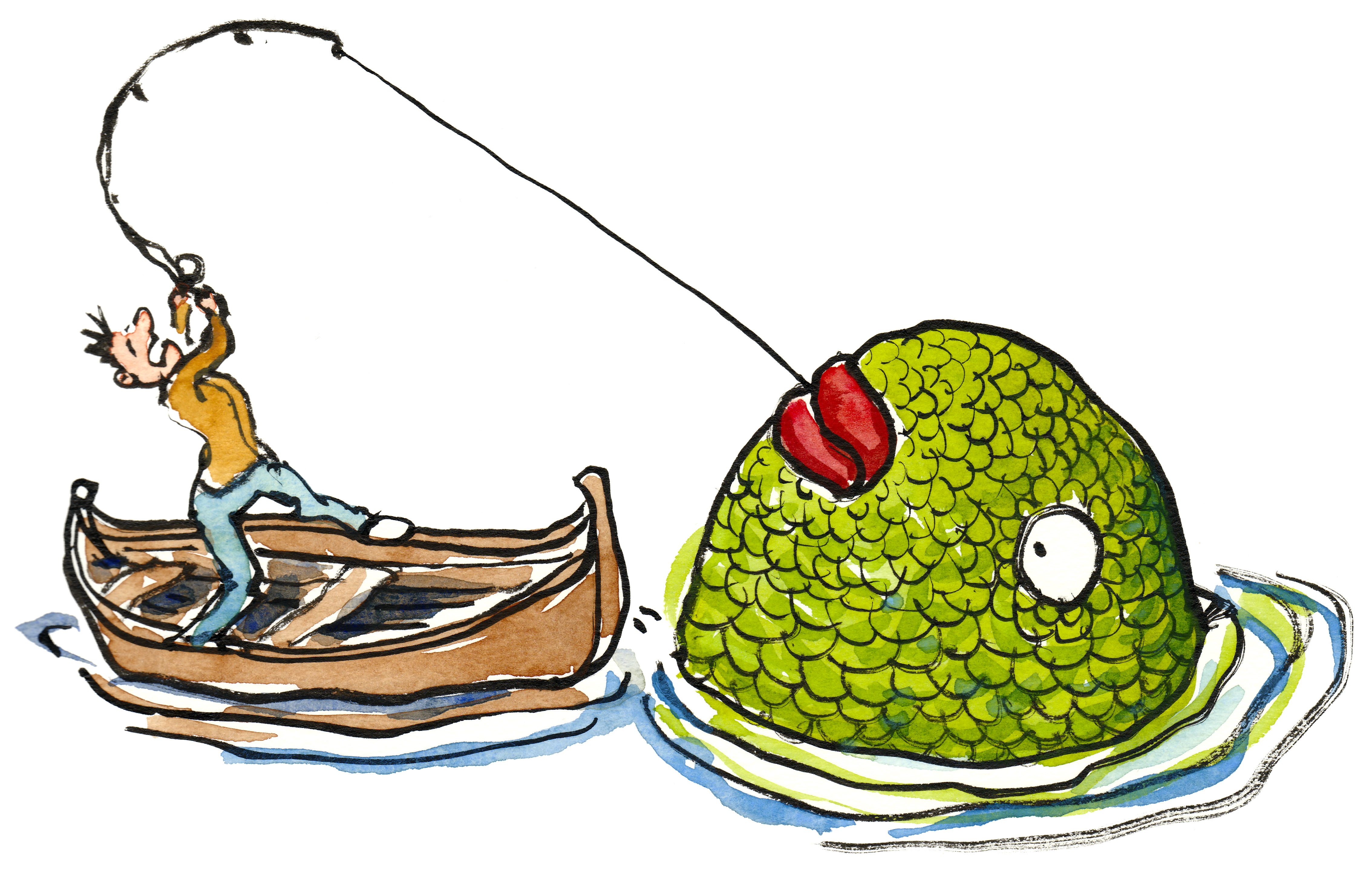 Fishing clipart caught fish. A big catch