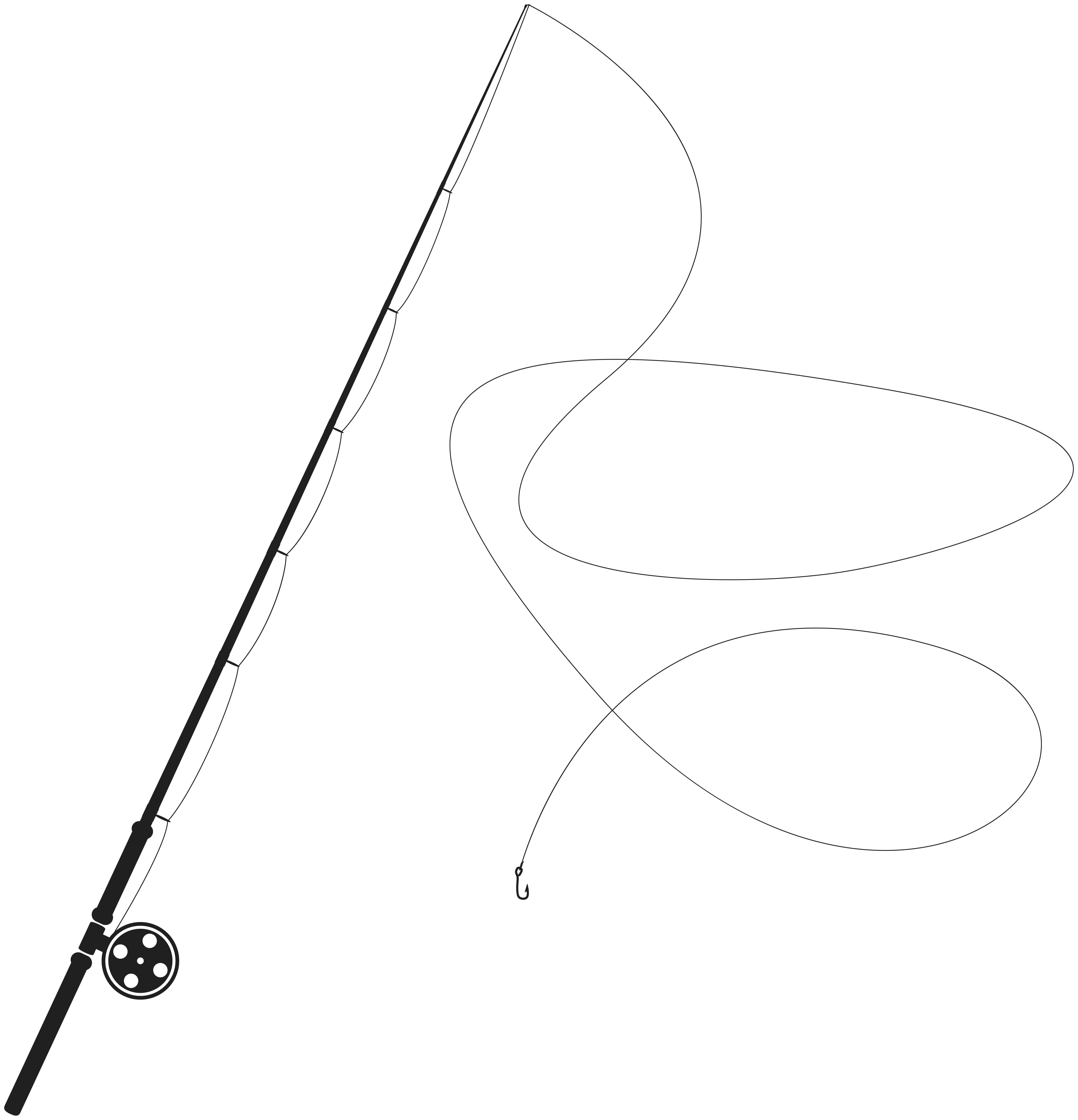 Fishing rod png. Silhouette clip art best