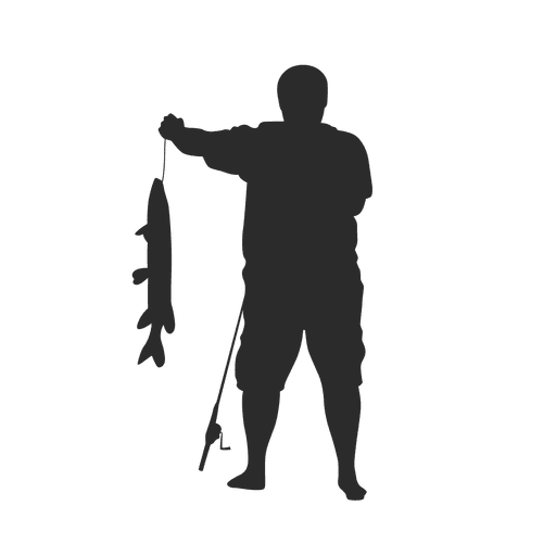 Svg silhouette fisherman. Fishing transparent png vector