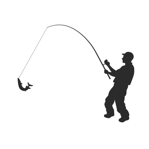 Fisherman silhouette png. Fishing fish transparent svg