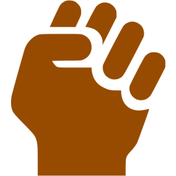 Nerd clipart brown hair brown eye. Clenched fist icon free