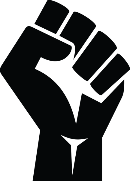 Protest vector stock photo. Ga stylized clenched