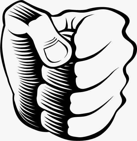 Fist clipart painted. Hand drawn vector sketch