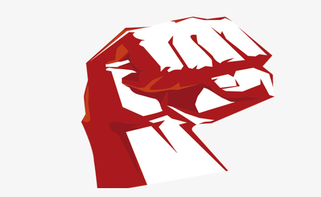 Fist clipart painted. Hand red power png