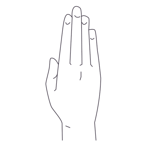 Fingers drawing illustrated. Upside hand transparent png