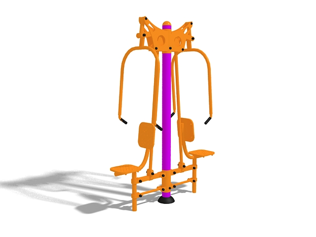 Fitness clipart outdoor fitness. Equipment d model ds
