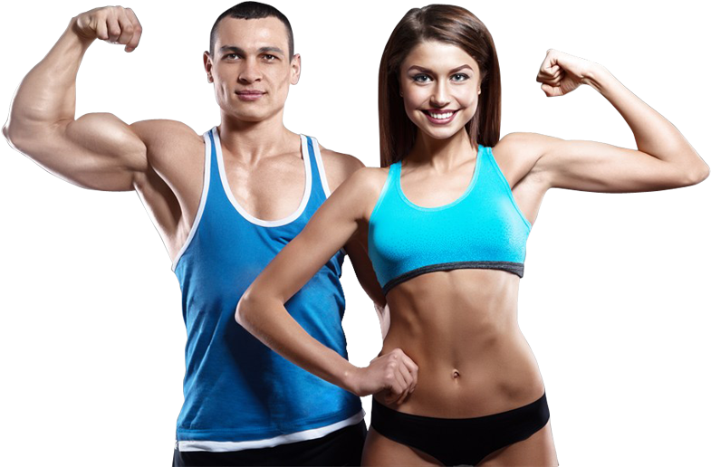 Fitness couple png. Download happy working out
