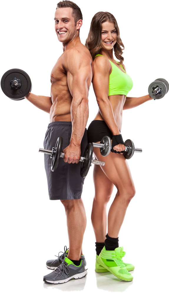 Fitness couple png.