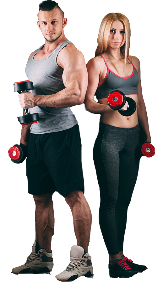 Fitness couple png. Gym canvas html video