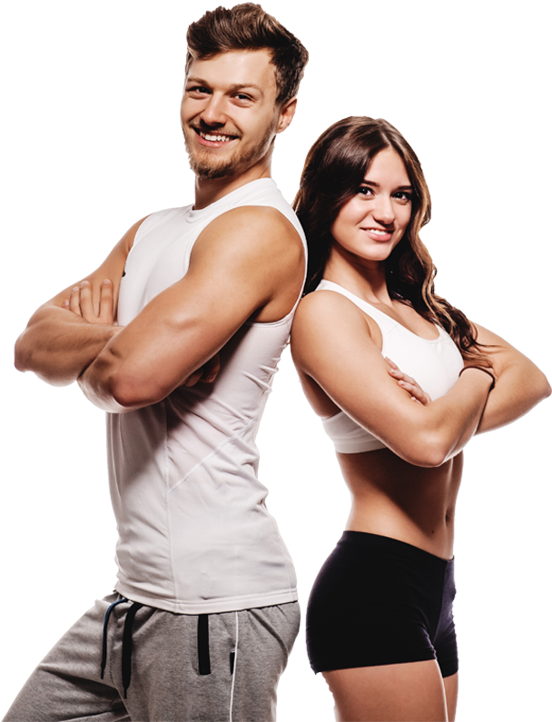 Fitness couple png. Fit person transparent images