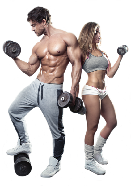 Fitness couple png. Psd official psds share