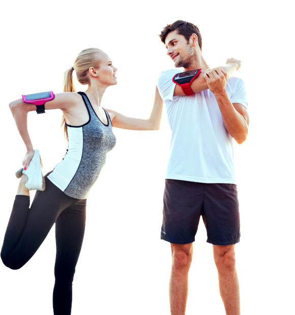 Fitness couple png. Get a great workout