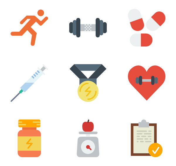 Fitness icons png. Icon packs vector