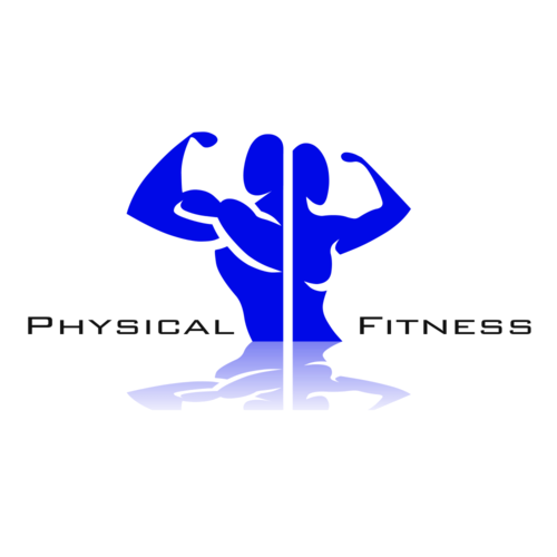 Typography vector fitness. Physical logos center academia