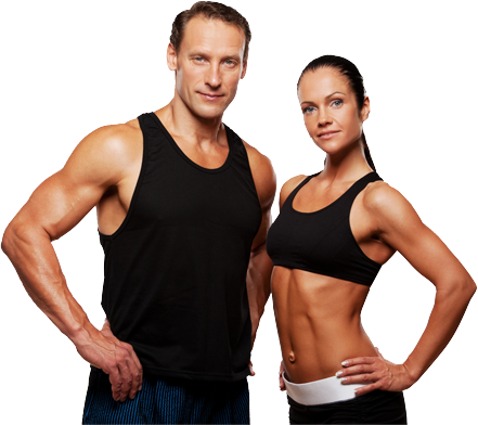 Fitness man and woman png. Australia s health solution