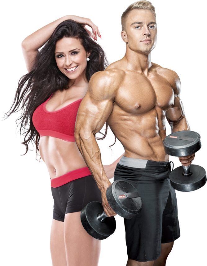 Fitness man and woman png. Transparent images pluspng image