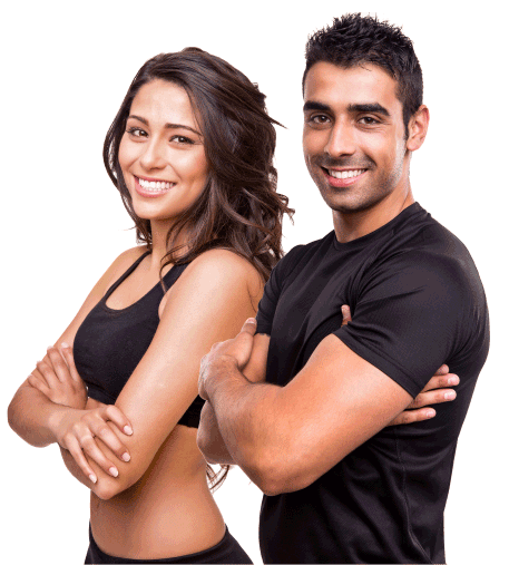 Fitness man and woman png. Talwalkars gym best centre