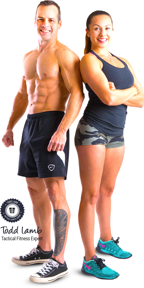Fitness man and woman png. Specforce abs weeks to