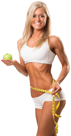 Fitness model png. With apple pose what