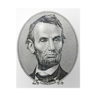 Five dollar bill png. President abraham lincoln as