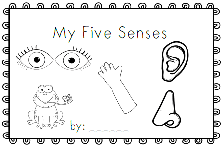 Five senses clipart coloring page. Pages free pic