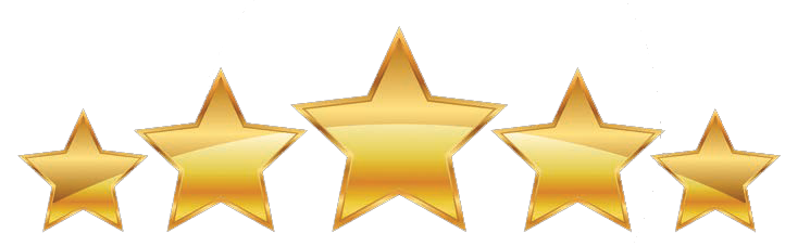 Five star png. Leave a review golden