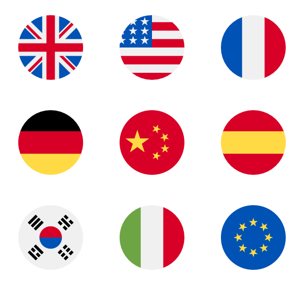 Us vector nation. Flag icon packs