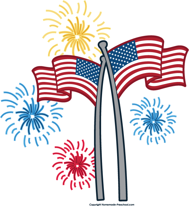 Flag clipart picnic. Th of july