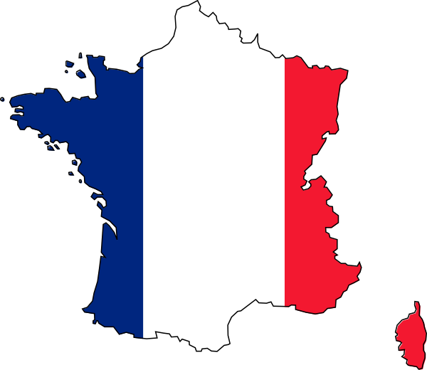 Flag clipart printable. French crossword to