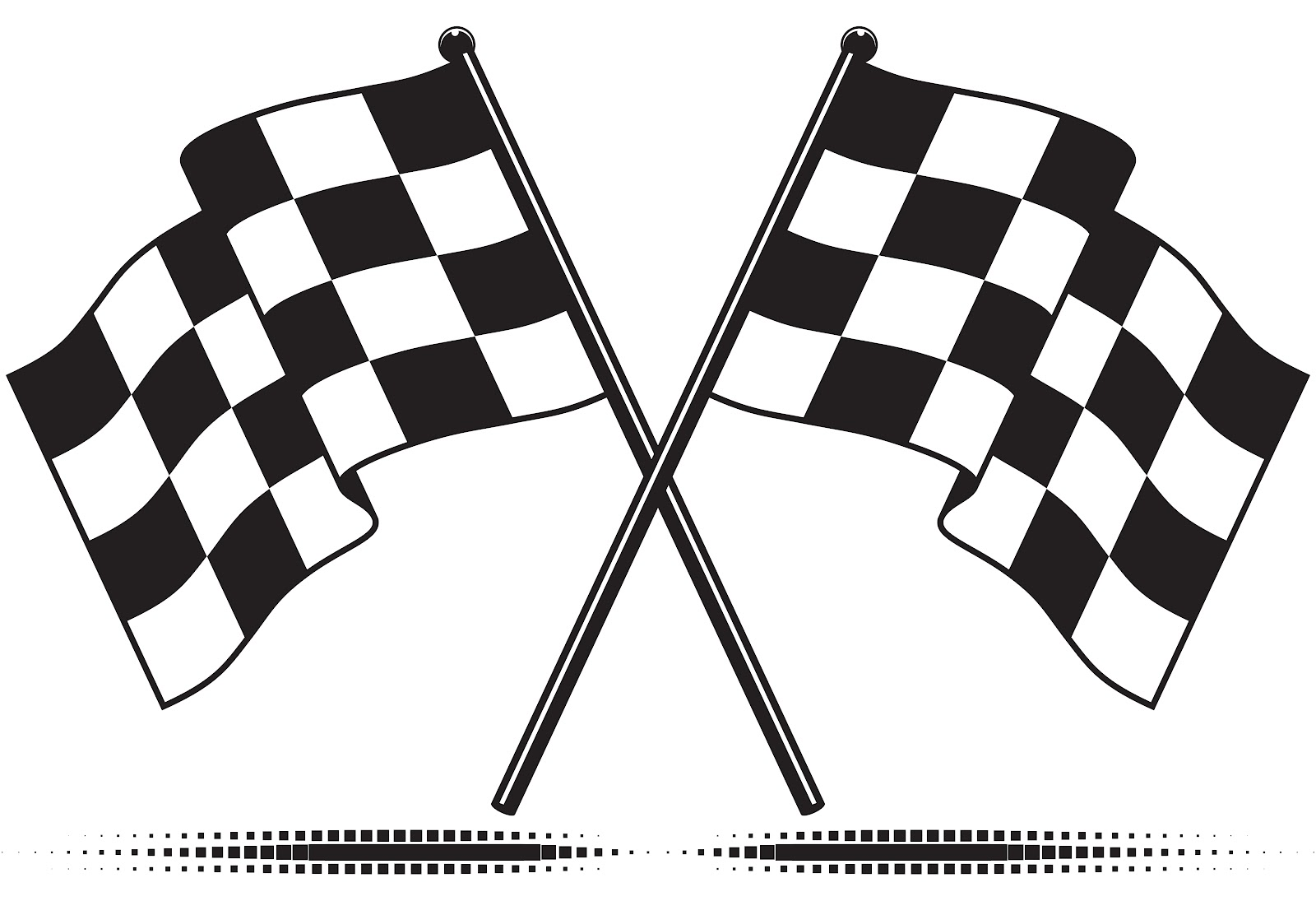 Checkered . Flag clipart printable image royalty free library