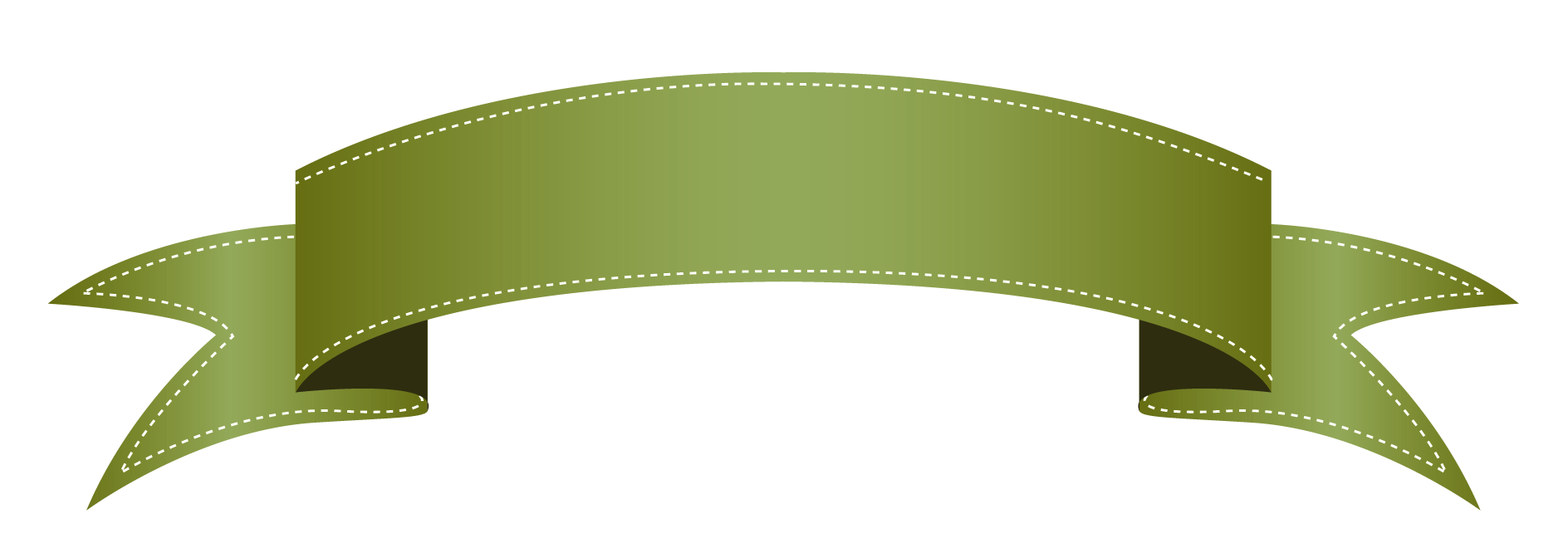 green ribbon banner png