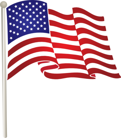 flying vector american flag