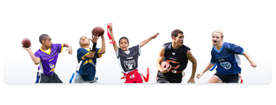 Flag football player png. Ays nfl home
