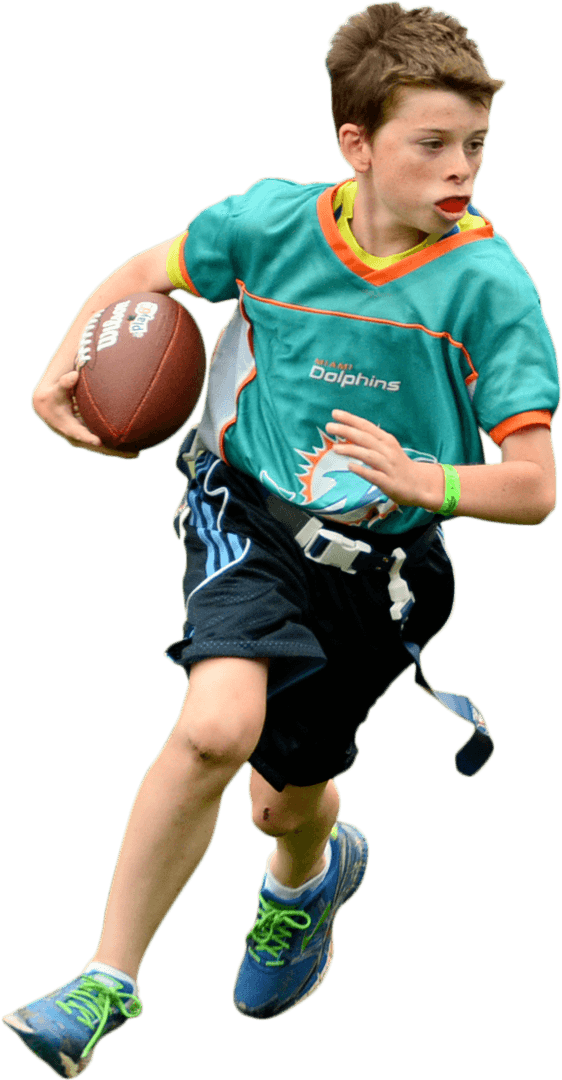 Flag football player png. Youth ffwct