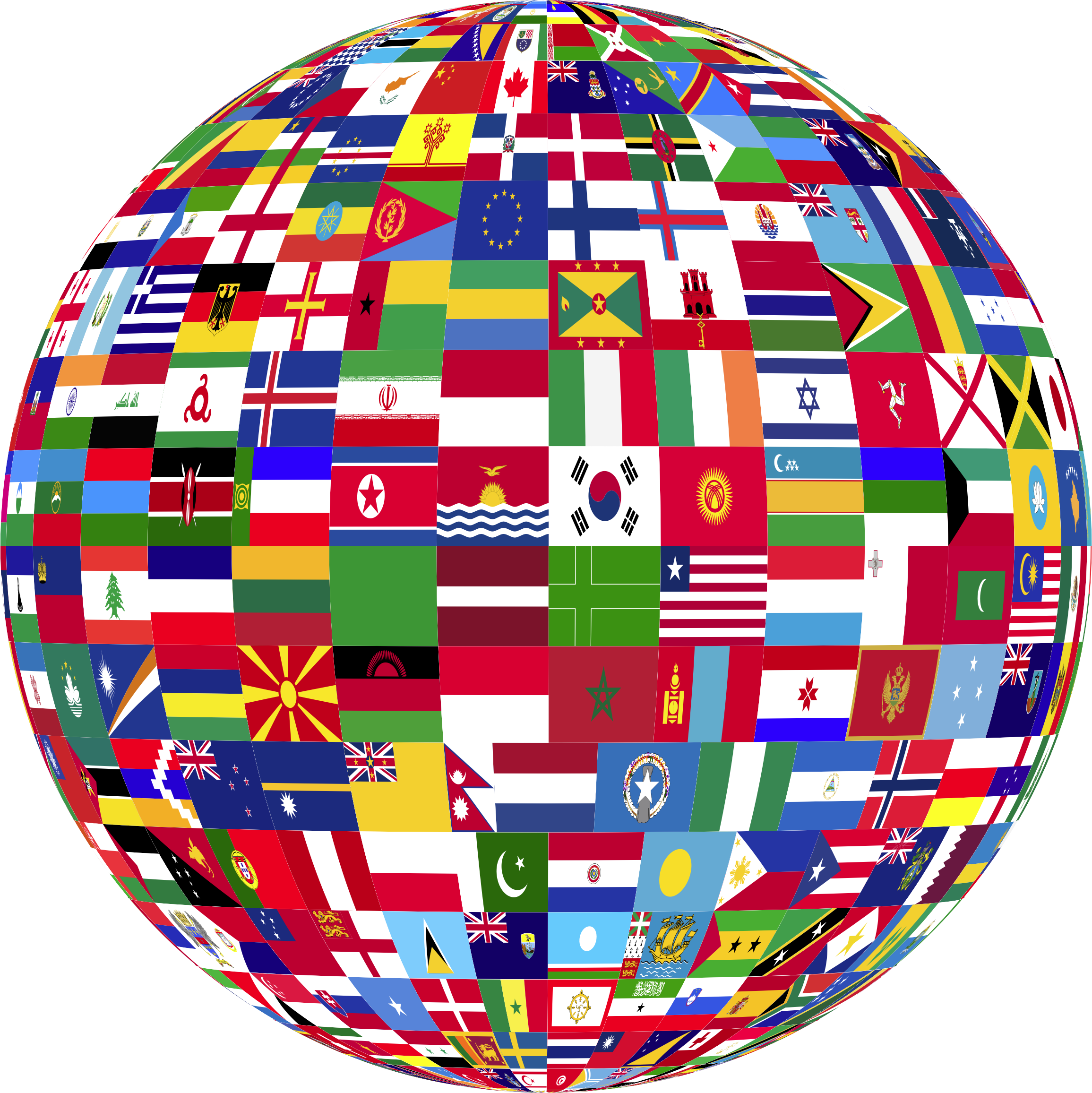 Flag globe png. World flags icons free