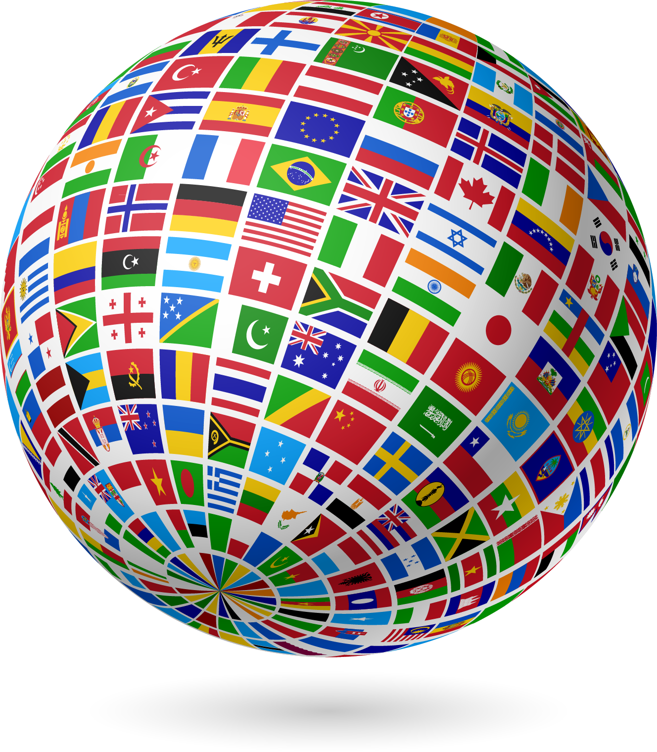 Flag globe png. Flags of the world