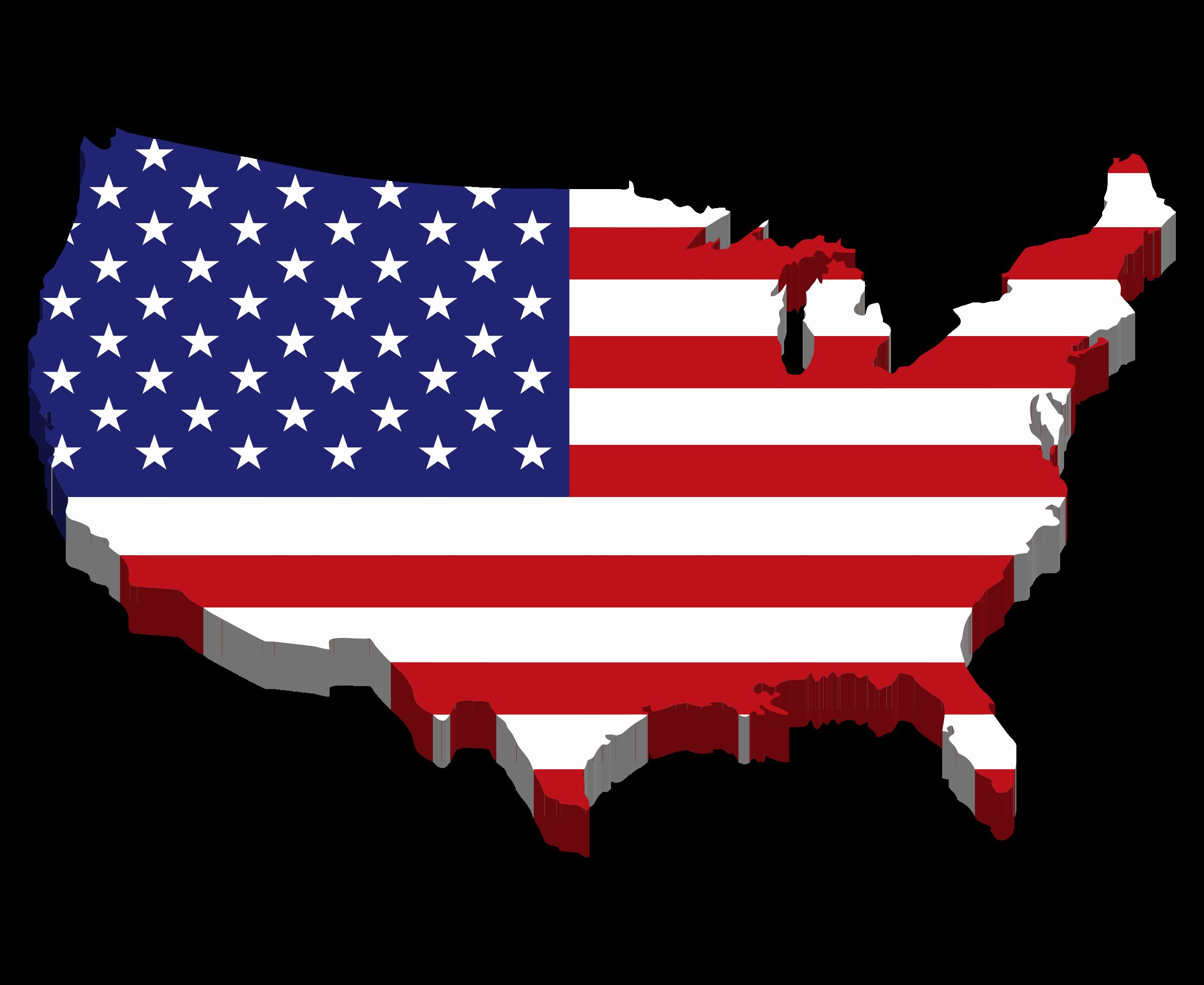 Flag of Date. Map usa up to